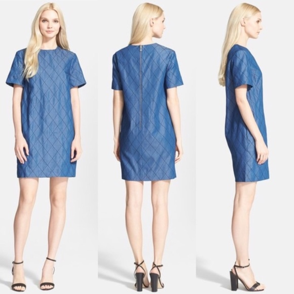 158e0ed8daf kate spade Dresses   Skirts - Kate Spade Quilted Chambray Shift Dress -  Size 6